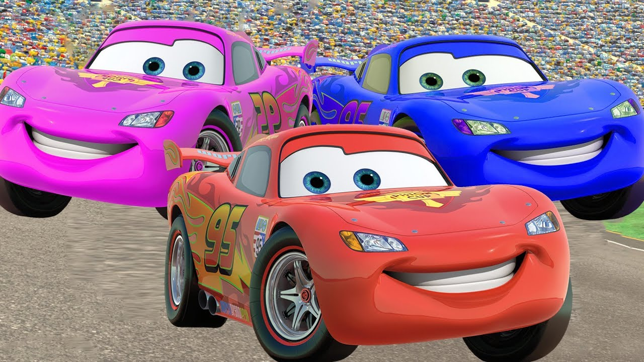 CARS 3 Lightning Mcqueen Learn Colors Cars Cartoon FUNNY