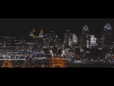 Cincinnati Downtown Aerial Photography