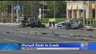 Four Injured After Police Pursuit Ends In Multi-Vehicle Crash