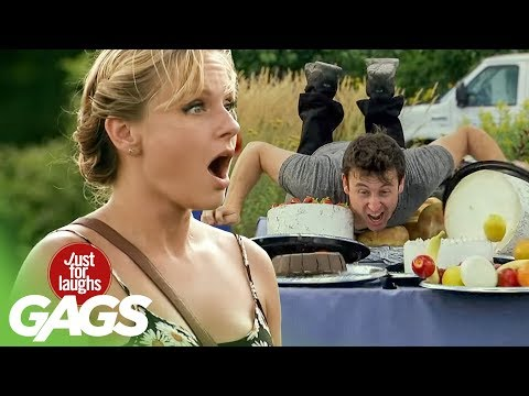 Crazy Food Stunt Prank - Just For Laughs Gags