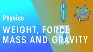Weight, Force, Mass &  Gravity | Forces & Motion | Physics | FuseSchool