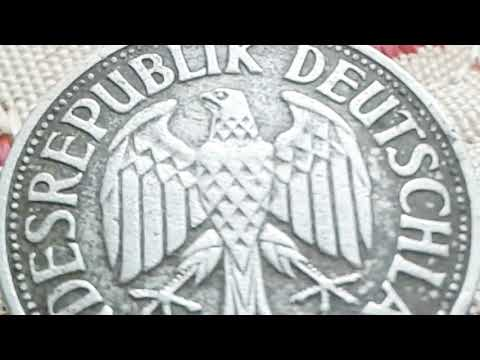 👉€ 40.000 👈 do you have this Old Coin West Germany 1 Deutsche mark 1957 F Coin Value