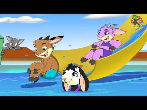 Волк и семеро козлят на корабле | KONDOSAN На русском смотреть сказки для детей 2019