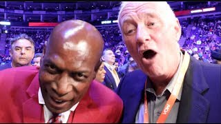 YOU STILL OWE ME MONEY' - FRANK BRUNO TELLS BARRY HEARN & REACTS TO CHISORA STUNNING KNOCKOUT