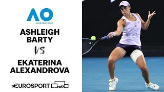 Ashleigh barty v ekaterina alexandrova   australian open 2021 - highlights tennis eurosport