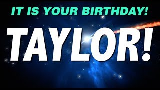 HAPPY BIRTHDAY TAYLOR! This is your gift.