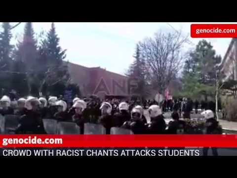 Group Shouting Racist Slogans Attacks Students at Ankara University