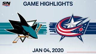 NHL Highlights   Sharks vs. Blue Jackets – Jan. 4, 2020
