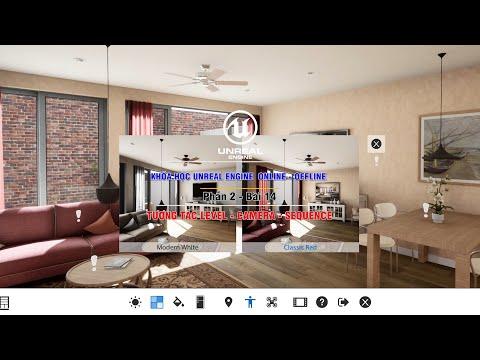 Video Demo khóa học Unreal Engine  Online Offline - Xây dựng tương tác Blueprint