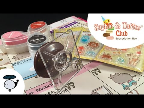Sophie & Toffee Club: Planner Stamps! New Kawaii Crafts Subscription Box