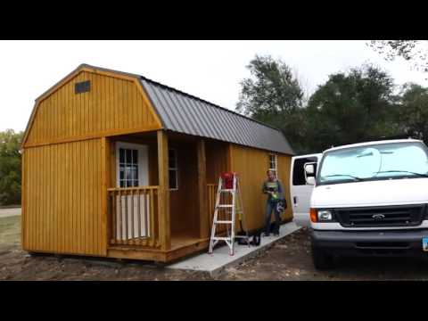 Living Off Grid In A Tiny Shed First Look Youtube