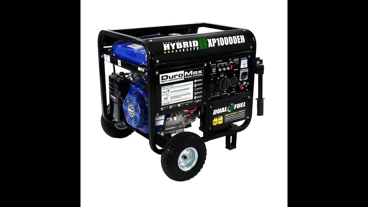 Review Duromax Xp10000eh 8000 Run Watts 10000 Starting Dual Fuel Ed Portable Generator