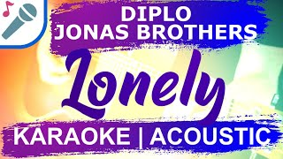 🎤 LONELY (KARAOKE VERSION) DIPLO JONAS BROTHERS & THOMAS WESLEY INSTRUMENTAL & LYRICS