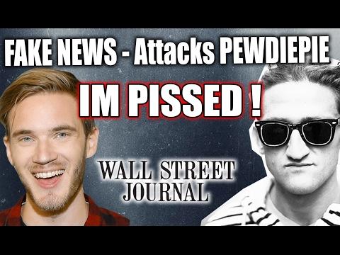 PewDiePie UNDER ATTACK !! FAKE News - The Wall Street Journal - Casey Neistat