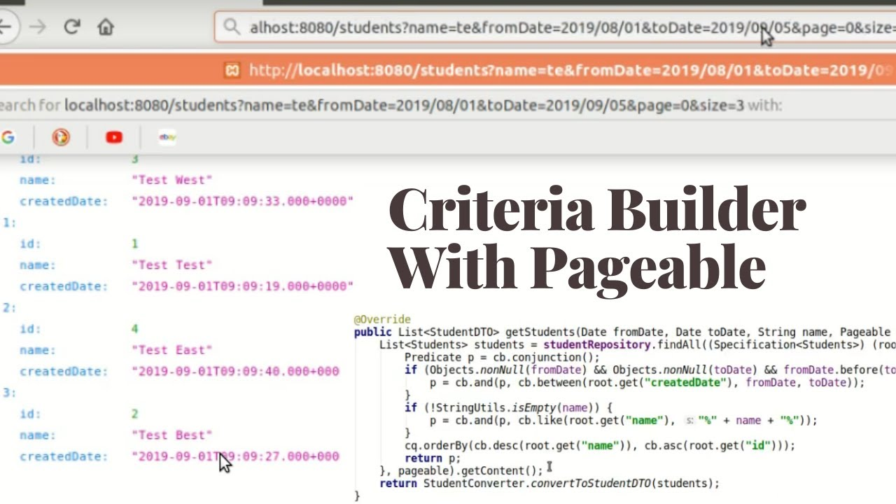 Criteria Builder | Query based on