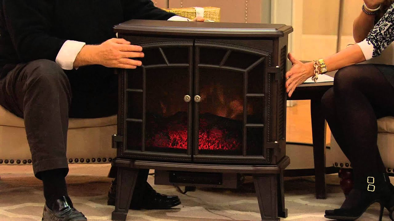 For More Information or to Buy: http://gather.qvc.com/item/duraflame-large-electric-stove-heater-w-screen-front-V33286/?cm_ven=YT&cm_cat=AU&cm_pla=RACHELBOES...