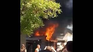 Пожар возле малиновского рынка