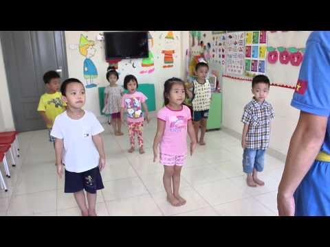 Một buổi học của các bé trường Mầm non Ngọc Minh