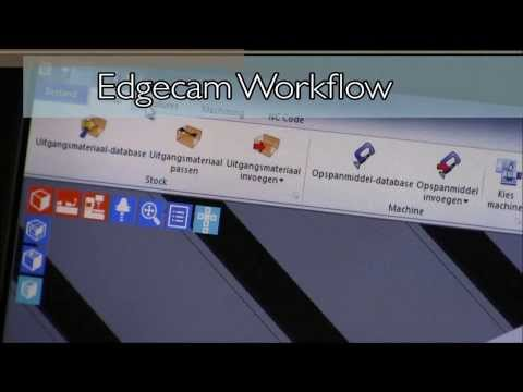 Edgecam waveform roughing and profile finishing