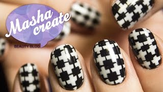 Модный Маникюр + обзор Lac&Go. Геометрический Дизайн Ногтей, черный и белый узор