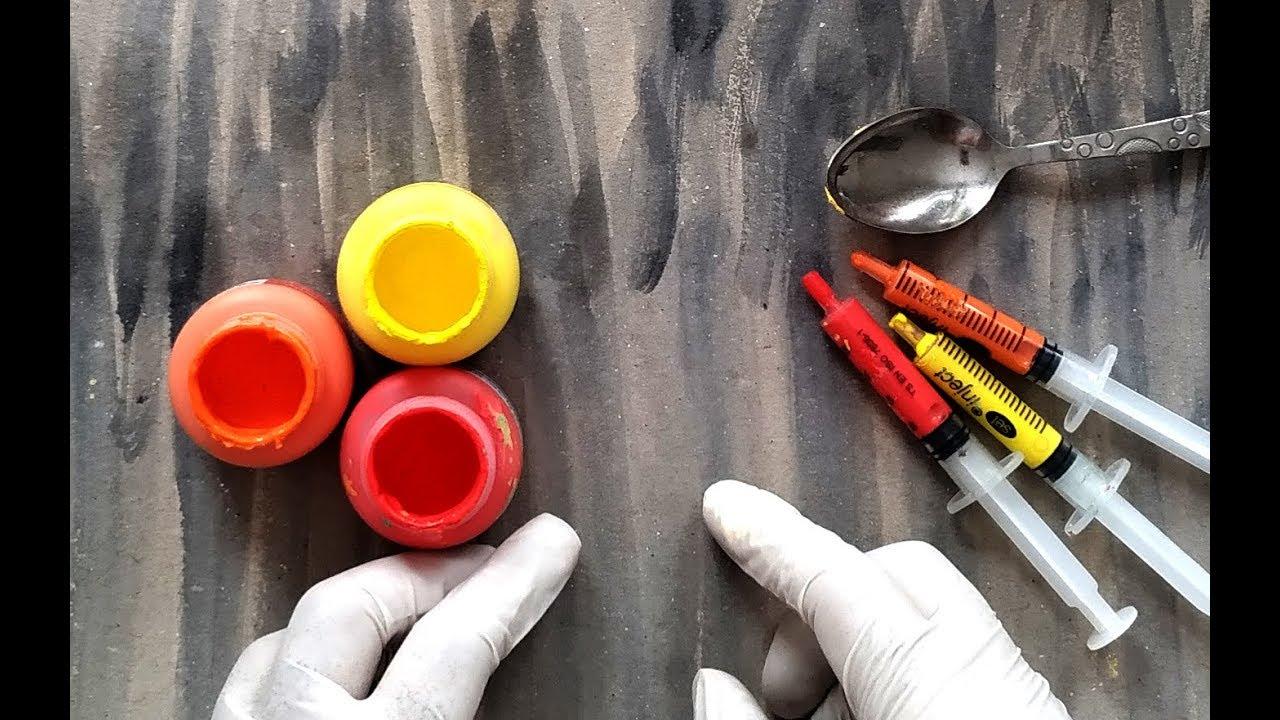 Akrilik boya çalışmaları Çocuklar İçin