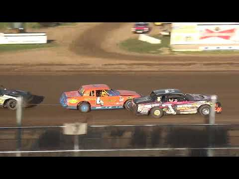 IMCA Stock Car Heat 3 Independence Motor Speedway 8/10/19