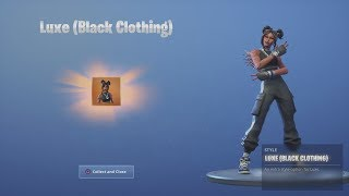 LUXE *UNLOCKED* (Black Clothing) Legend LUXE Unlock After Fortnite Victory Royale WIN!