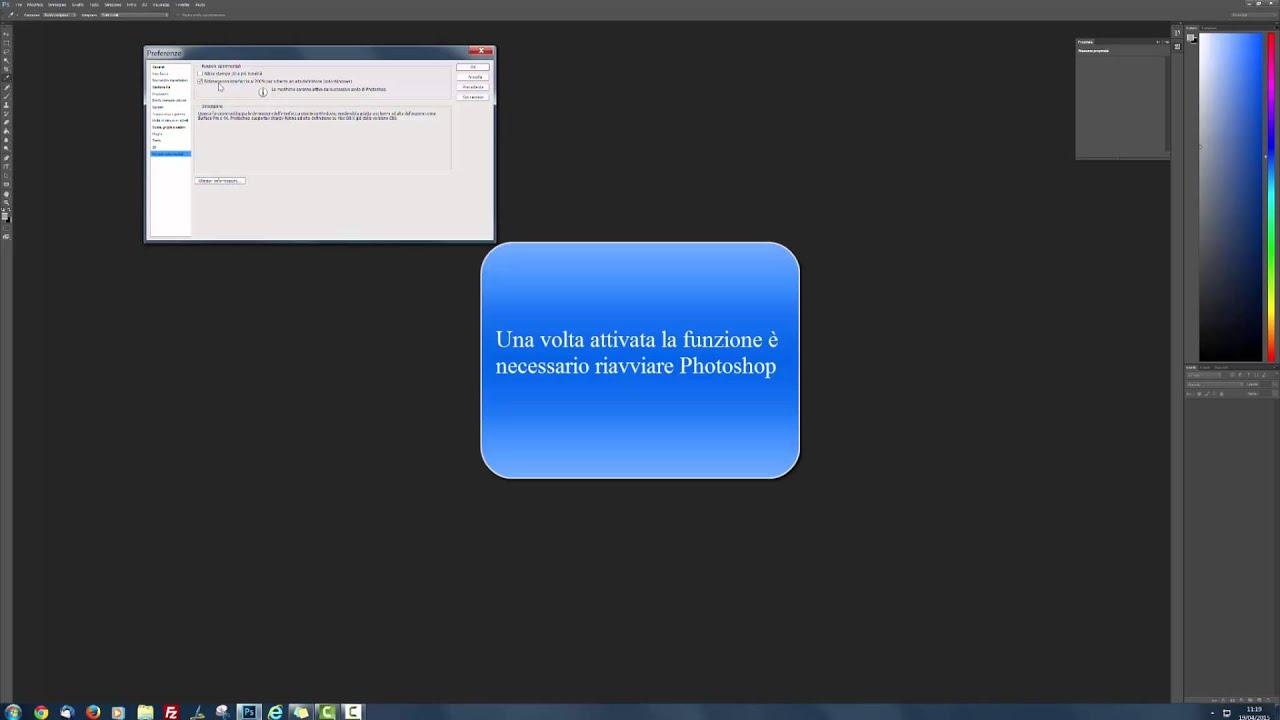 Photoshop su schermi 4k