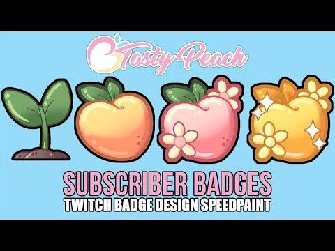 Twitch Subscriber Badges   Twitch Badge Design Speedpaint