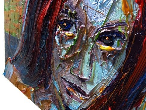 Expressionist Oil Painting x911 neo expressionism female