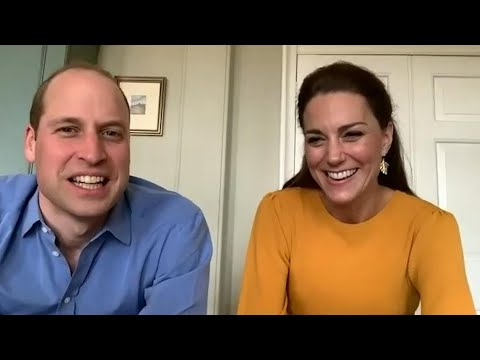William And Kate Take Part In Virtual Visit