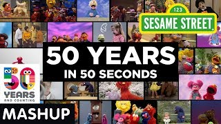 Sesame Street: 50 Years in 50 Seconds Mashup | #Sesame50