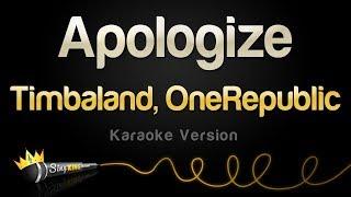 Timbaland, OneRepublic - Apologize (Karaoke Version)