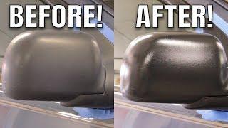 PLASTIC TRIM RESTORATION BLACK AGAIN! GTechniq C4 Permanent Trim Restorer Review Comparison