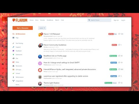 Create your professional business forum website with Flarum