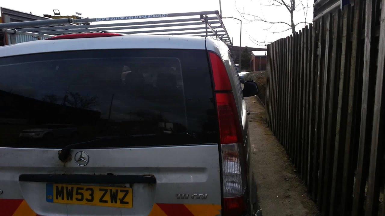 mercedes vito roof rack - YouTube