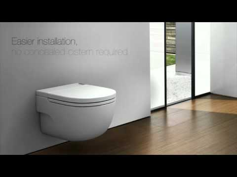Wall Hung WC Toilet WO Concealed Tank By Modern