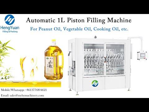 Automatic 100-1000ml Edible Oil Filling Machine   1Liter Servo Motor Piston Filler Dispenser