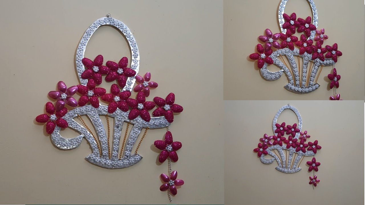 Canasta con  flores- Decoración para 15 años - decorative basket with flowers - party arrangement
