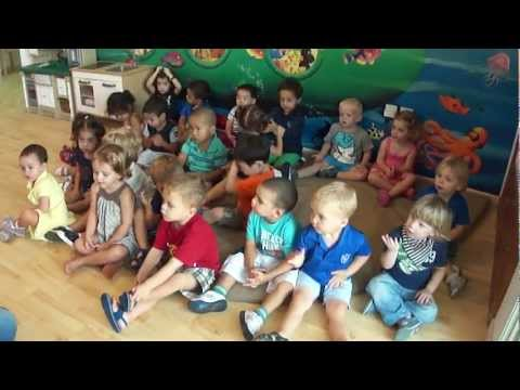 """Miss Rowena sings """"The weather song"""" at Blossom Nursery"""