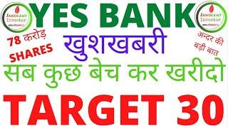 बहुत बड़ी खुशखबरी | YES BANK LATEST NEWS | YES BANK TARGET | बन जायेगा MULTIBAGGER |