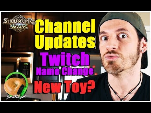 Channel Updates, Twitch Name Change, and a new Nat 5 Toy...