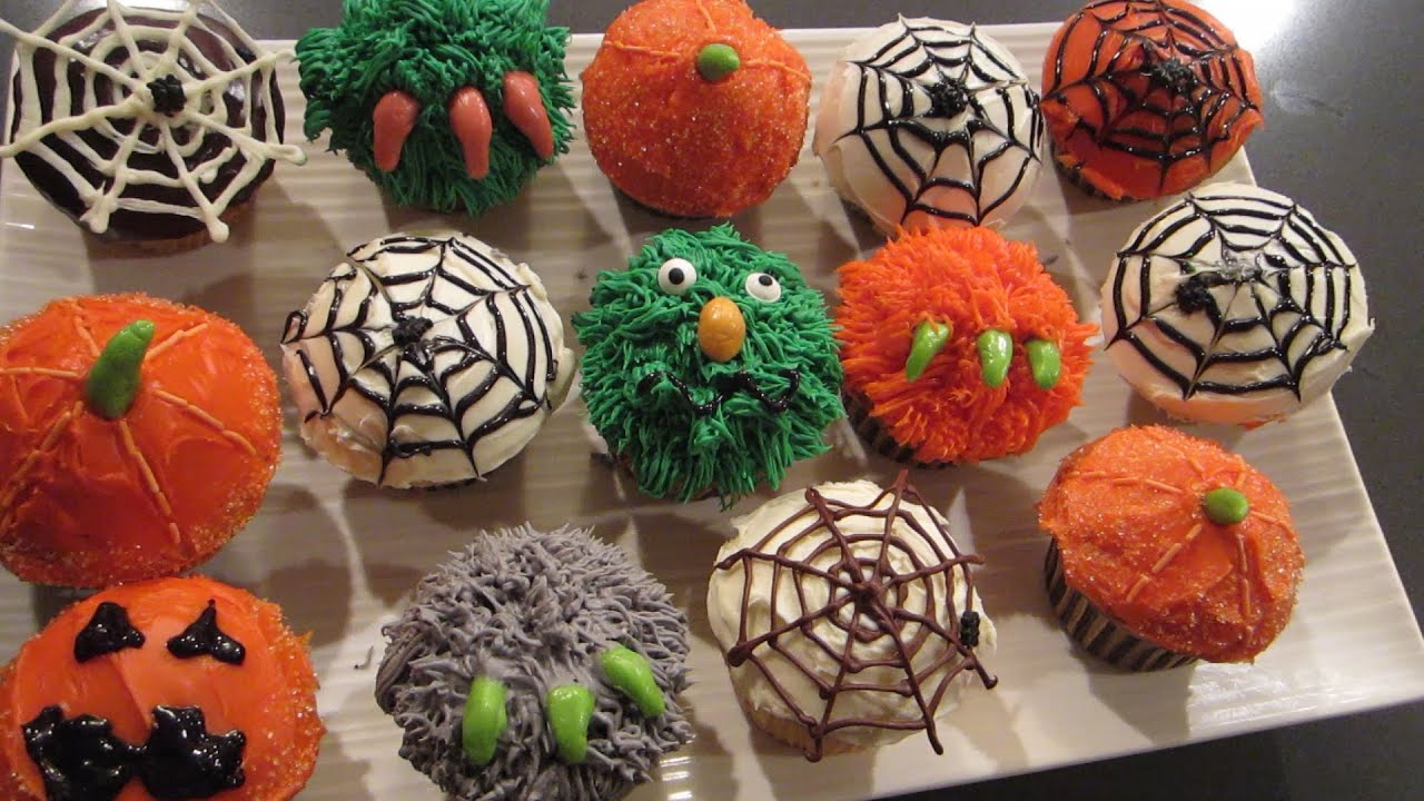 fun spooky halloween cupcake decoration ideas youtube - Scary Halloween Cupcake Ideas