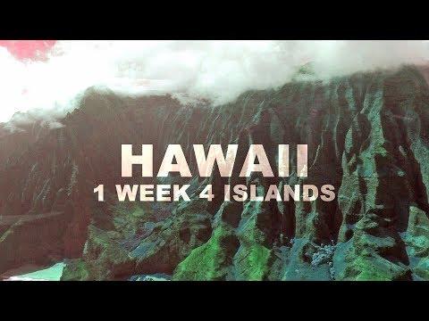 1 Week, 4 Hawaiian Islands - 2017 Vacation Documentary Trailer
