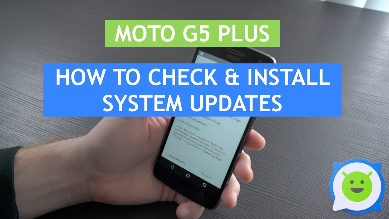 Moto G5 Plus - How to check & install system updates