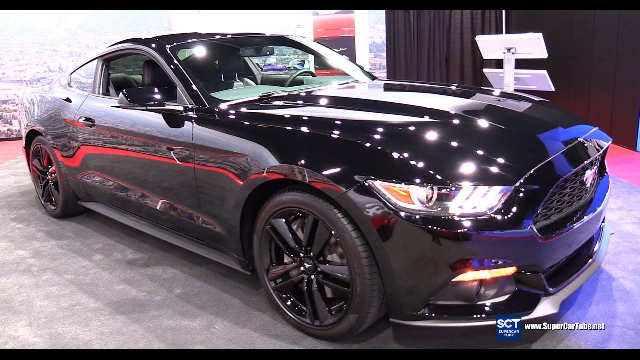 2015 Mustang Ecoboost >> 2016 Ford Mustang 2.3L Coupe Premium - Exterior and Interior Walkaround - 2015 LA Auto Show ...