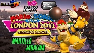 Mario y Sonic en los Juegos Olimpicos London 2012 GAMEPLAY - Martillo y Jabalina