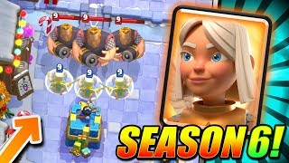 FREE TOWER SKIN + BATTLE HEALER STATS!! SEASON 6 UPDATE!! - Clash Royale