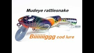 Big Murray Cod Surface lure - Mudeye Rattlesnake in action