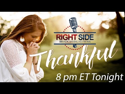 Join us LIVE Tonight at 8pm ET as we Pray about what we are Thankful for!